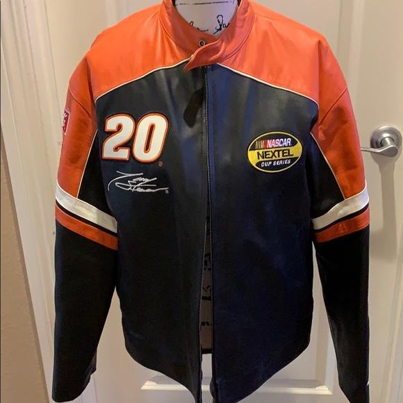 447917a20 Nascar Jackets & Coats | Leather Tony Stewart Home Depot Jacket ...